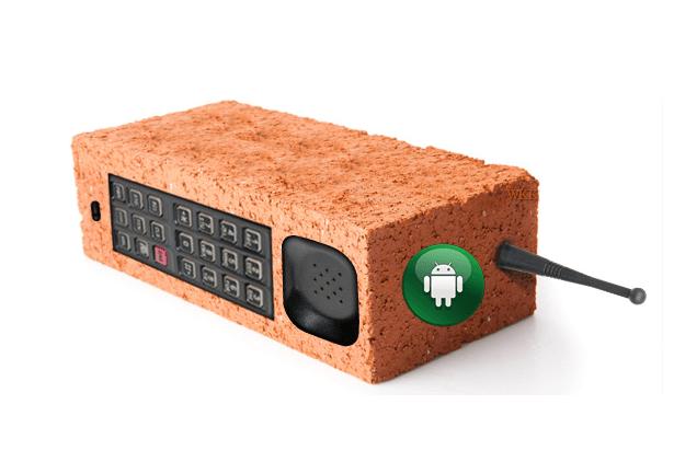 Андроид-кирпич