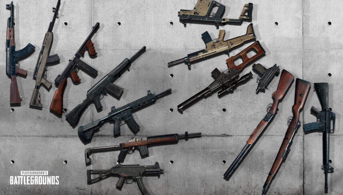 Выбор оружия в PUBG Mobile