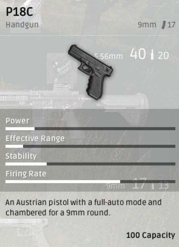 Выбор пистолетов в PUBG Mobile