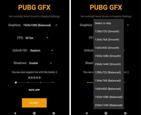 Настройка графики в GFX