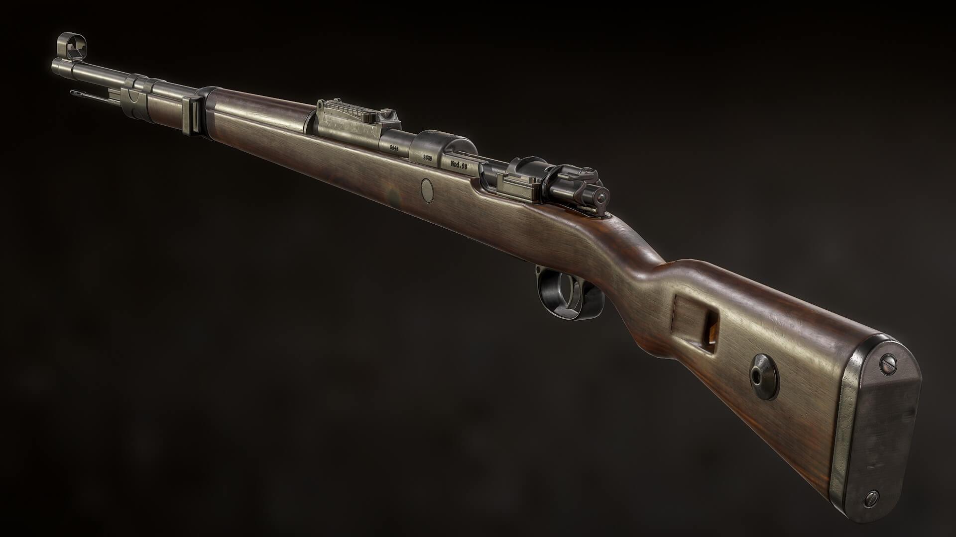 Снайперская винтовка Kar под углом