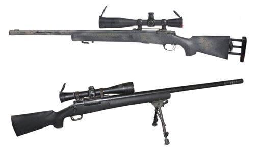 Снайперская винтовка m24 с двух сторон