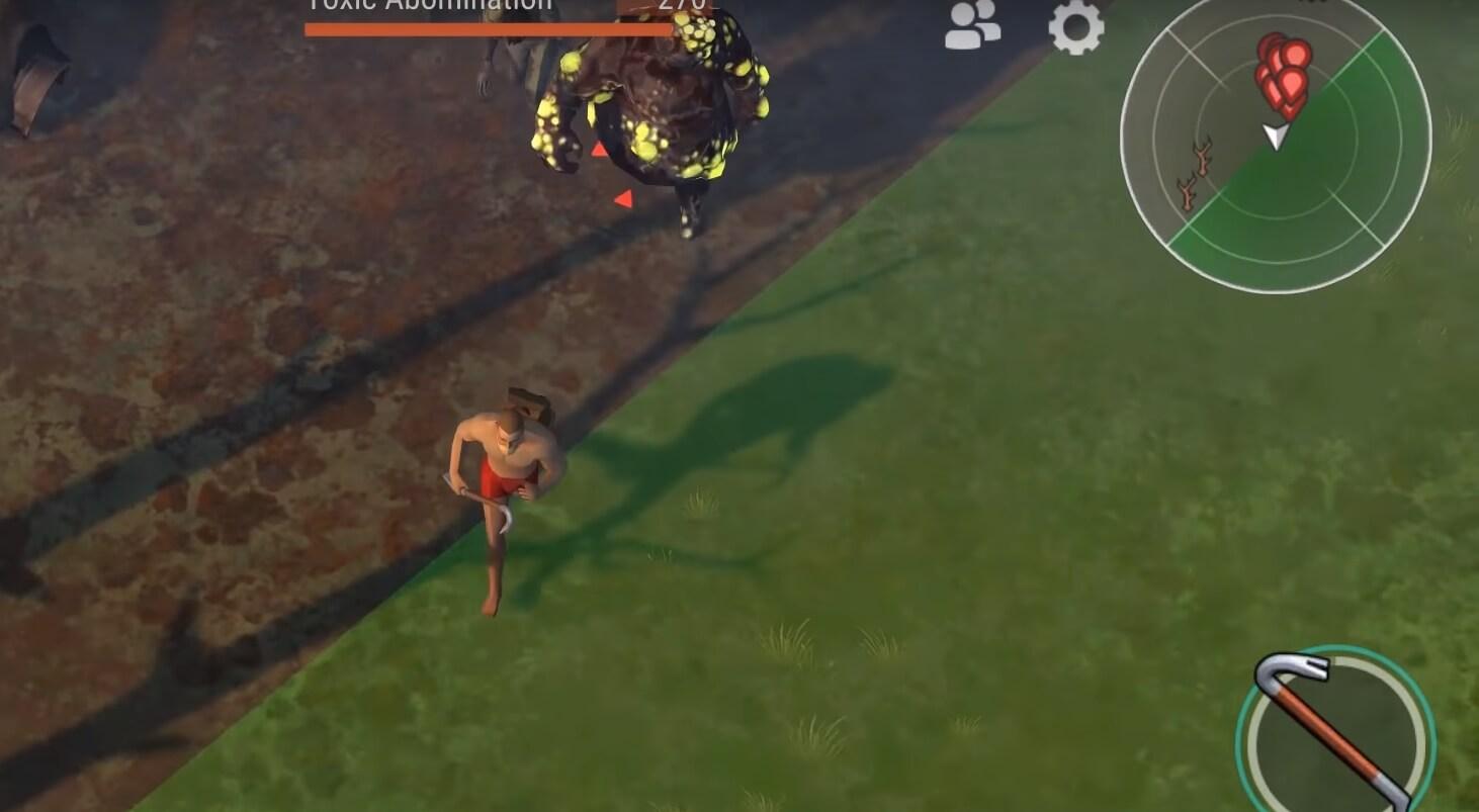 Бежит в зону от зомби