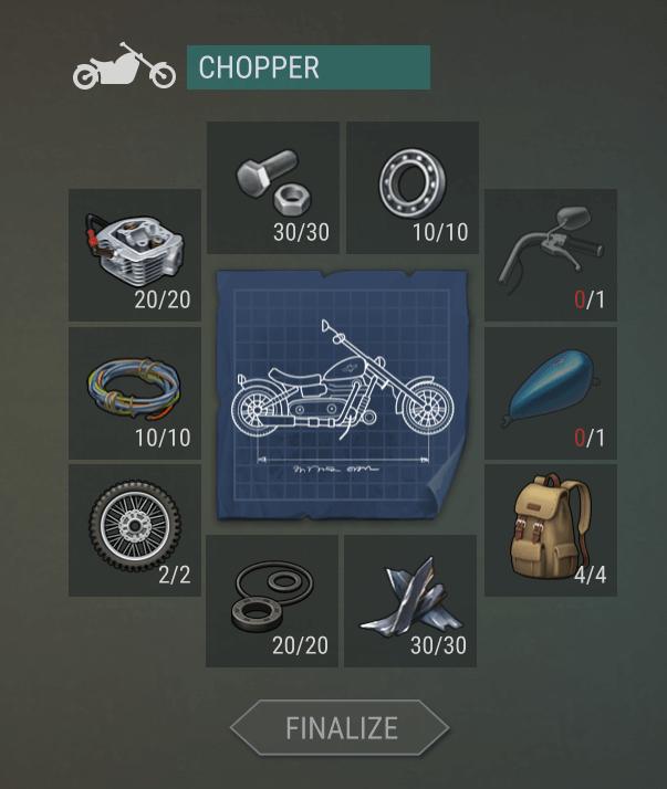 Комплектующие для мотоцикла