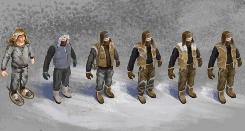 Выбор одежды в игре