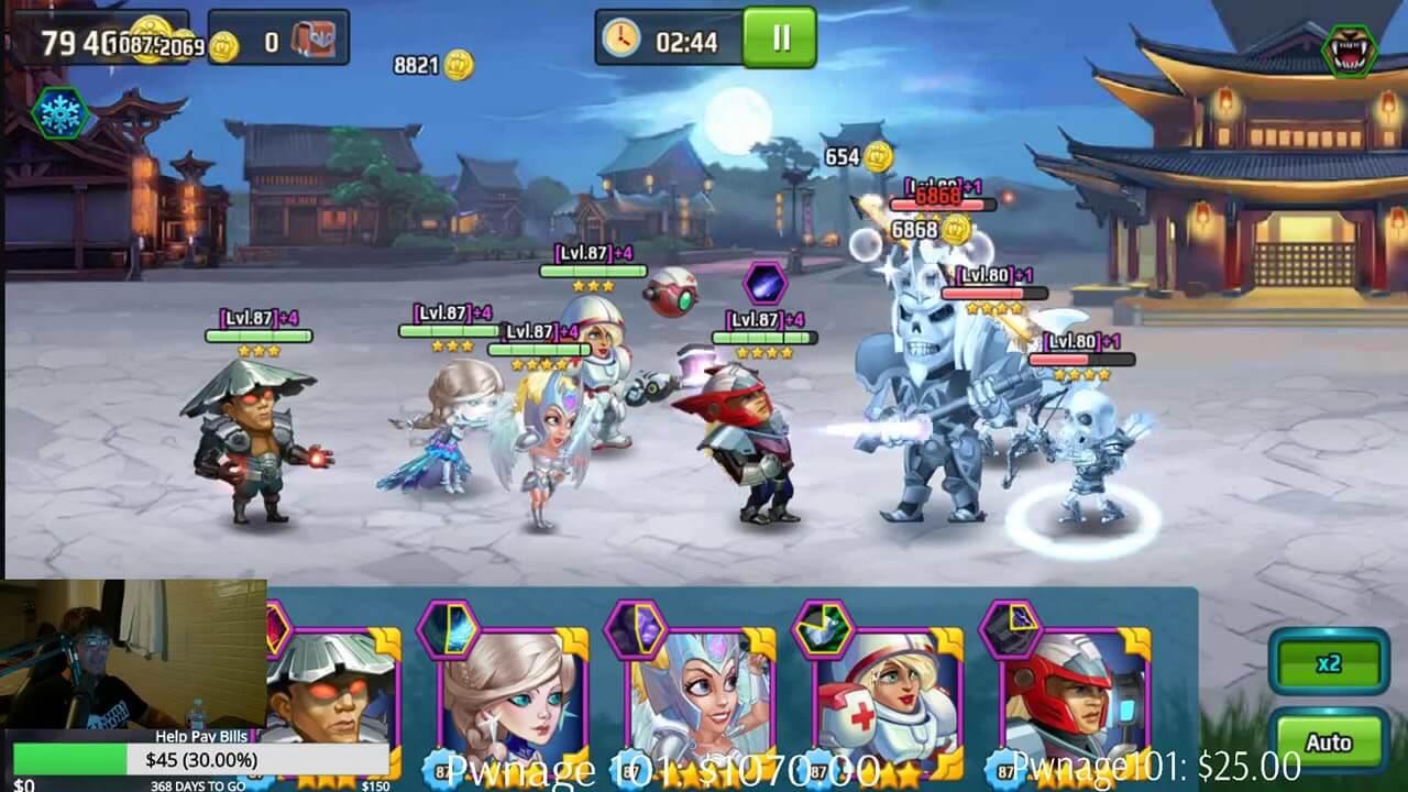 геймплей игры Battle Arena. Бой между командами
