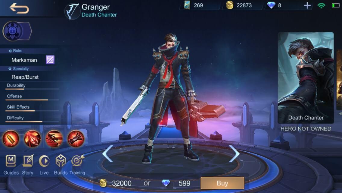 Выбор Грейнджера в Mobile Legends