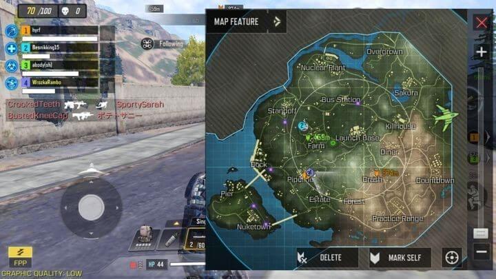 Обзор игровой карты Королевская битва в CoD Mobile
