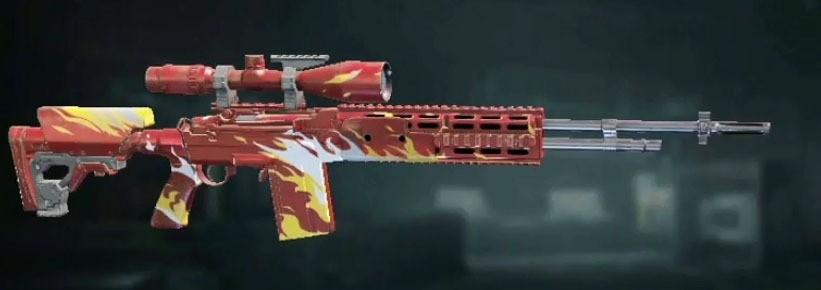 Снайперская винтовка в красном окрасе