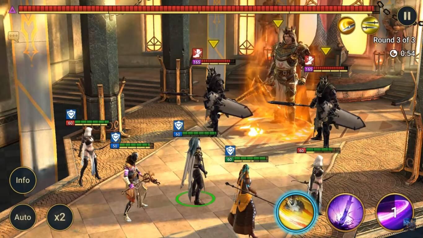 Битва с боссом и ботами в цитадели Арканы