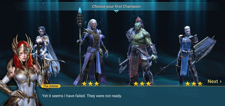 выбор героя в RAID