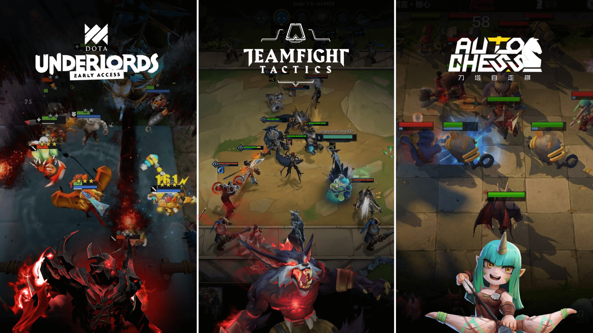 Dota Underlords and Teamfight Tactics