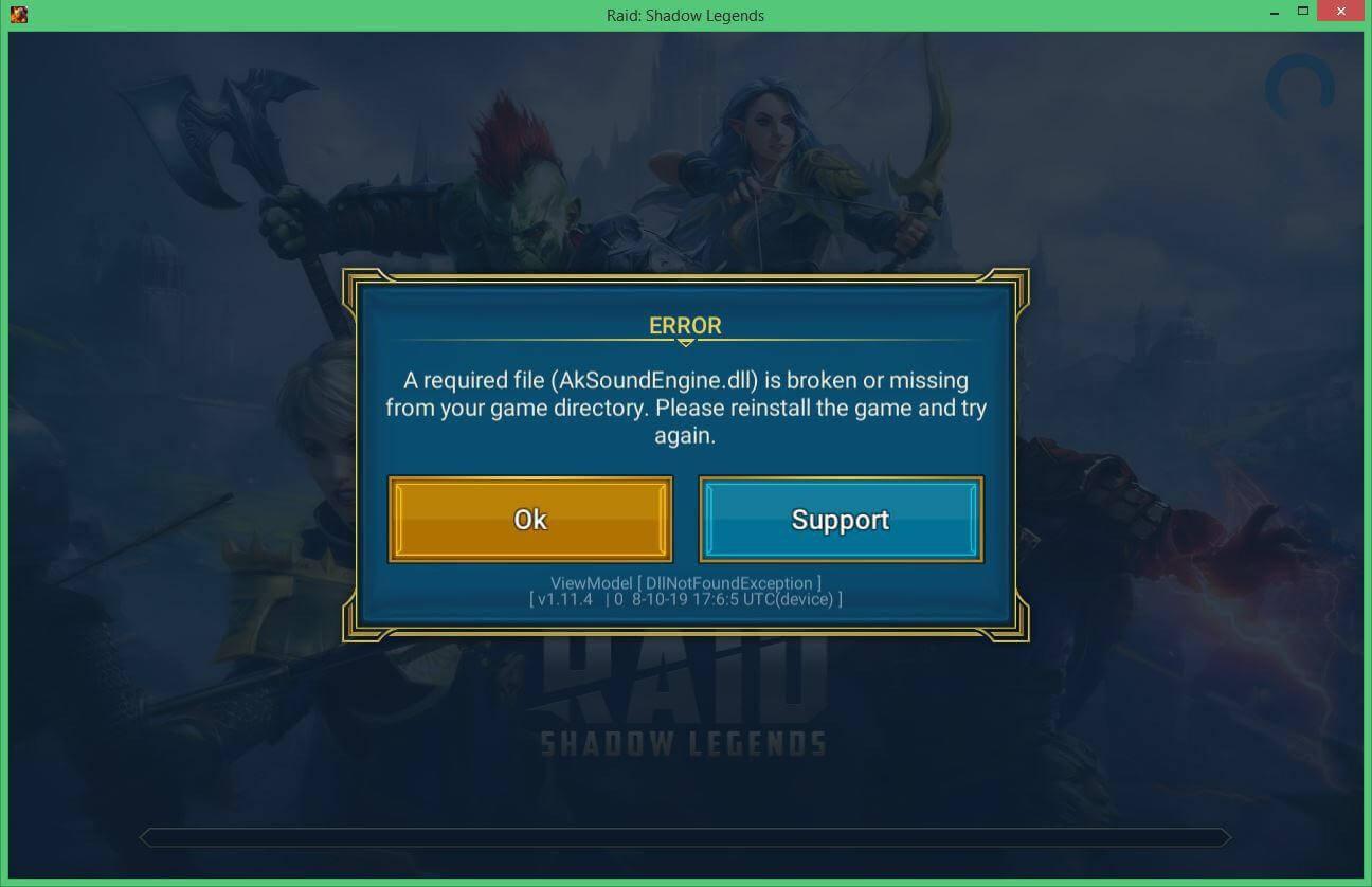 Ещё одна ошибка в RAID Shadow Legends