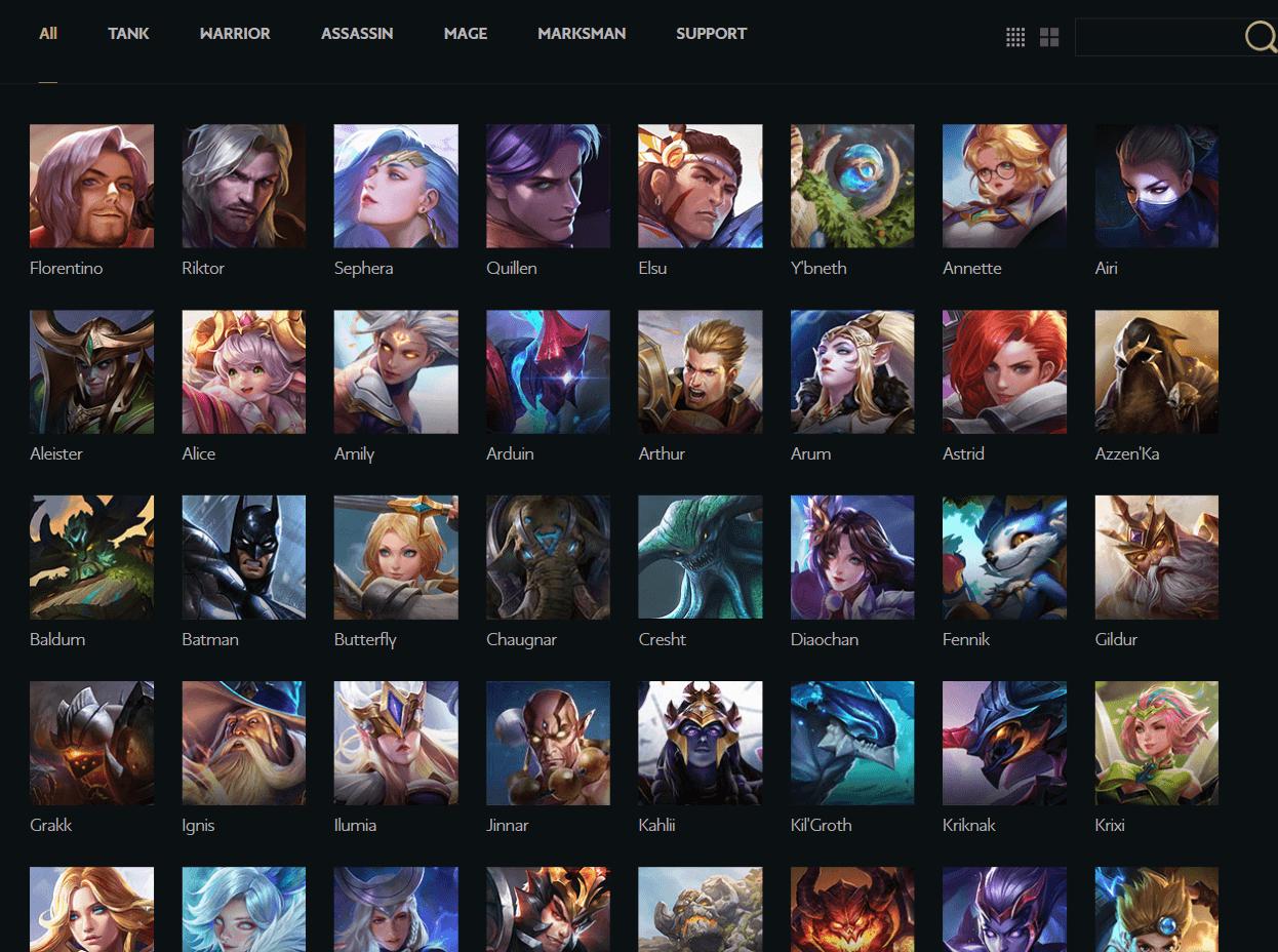 Выберите одного из 90 персонажей